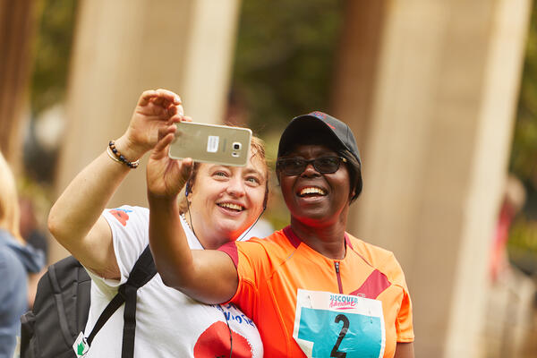 Marathon Walk London Selfie