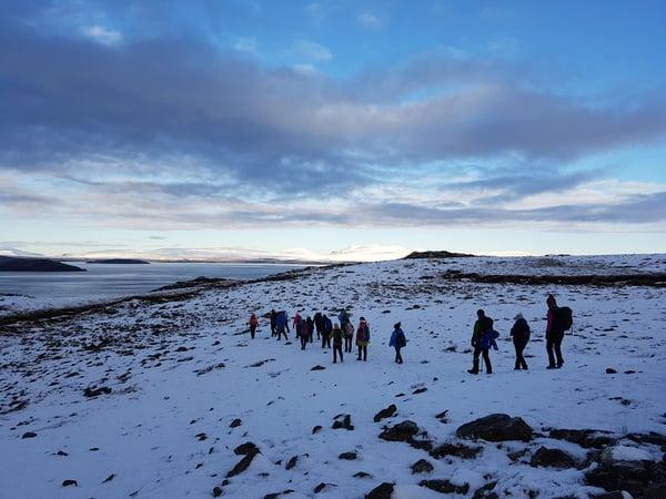 trekkers in iceland