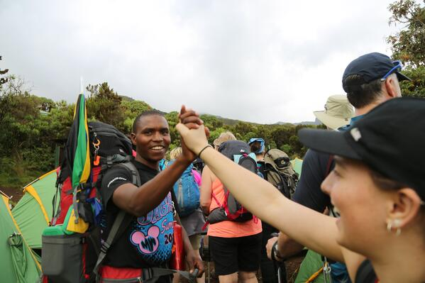 High Five on Kilimanjaro