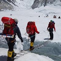 Icefall Ladder Crossing