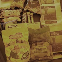 Packs of sweets