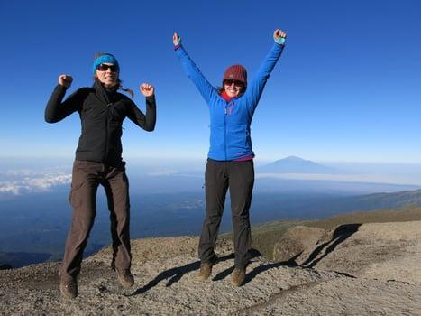 DA team on Kilimanjaro challenge