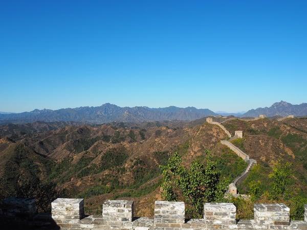 great wall of china views