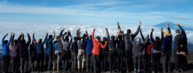participants on Kilimanjaro trek