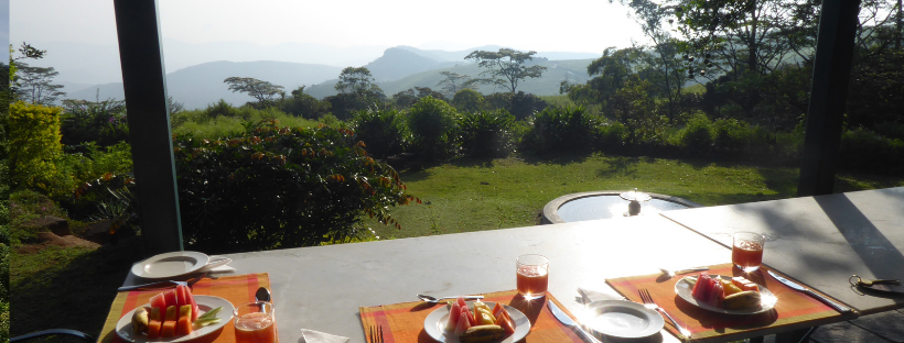 sri lanka breakfast with a view