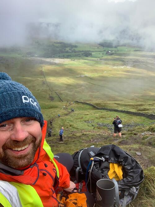 Huw leading a UK trek