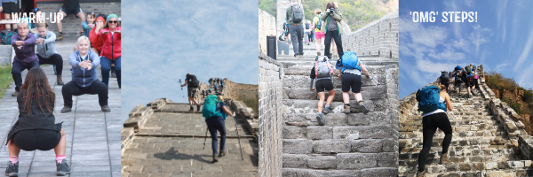 steps on the great wall trek