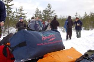 DA kit bag in snow